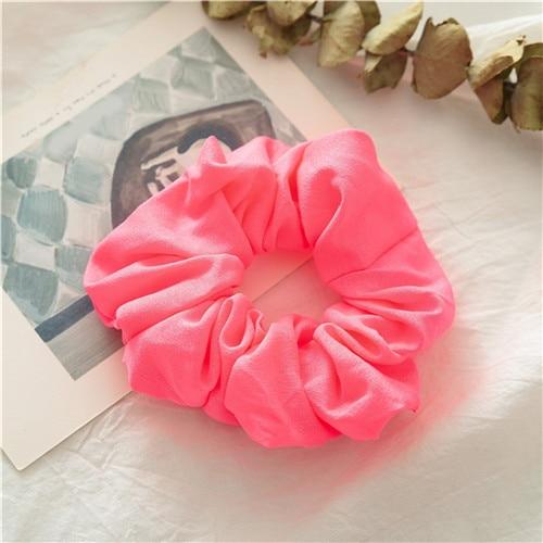Корейский женский ободок для волос для девочек, полосатые женские резинки для волос, конский хвост, Женский держатель, веревка с ананасовым принтом, аксессуары для волос - Цвет: f3