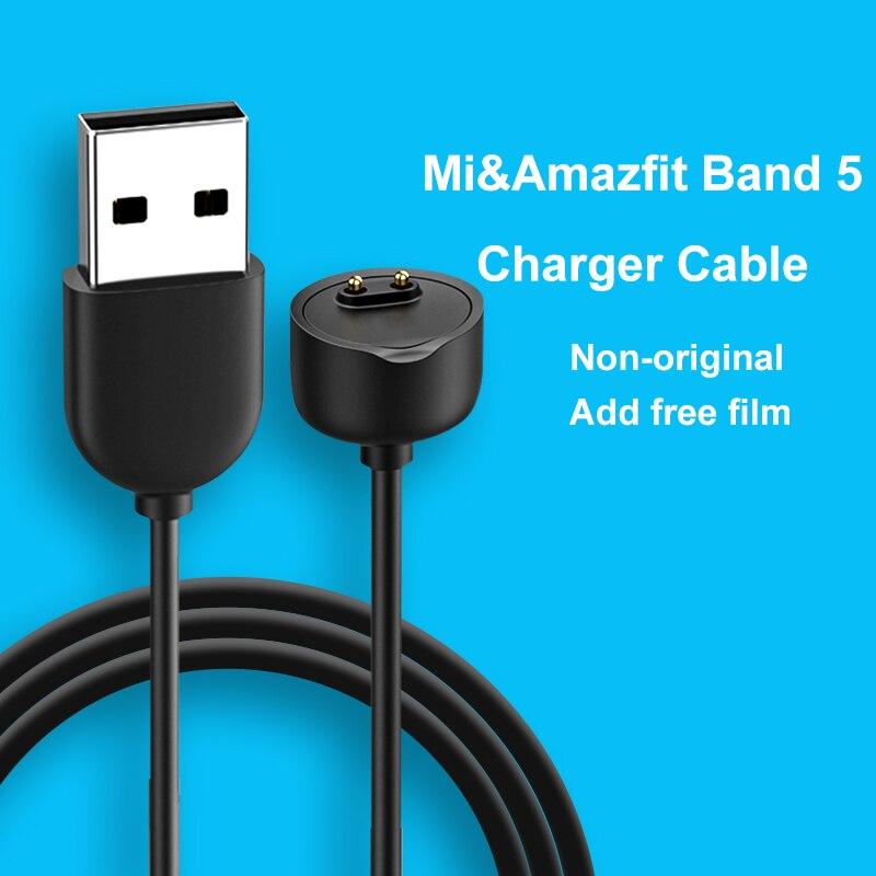 Кабель для зарядного устройства для Xiaomi Band 5 Смарт-браслет Mi Band 5 USB Магнитный зарядный кабель для часов Быстрая зарядка