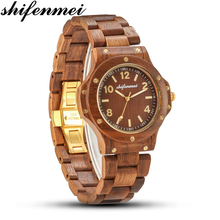 Shifenmei 2020 new wooden watch ladies Fresh and natural wooden quartz