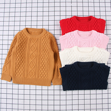 Autumn Baby Boys Girls Sweaters Kids Winter Knit Sweater Ripped Toddler Clothes