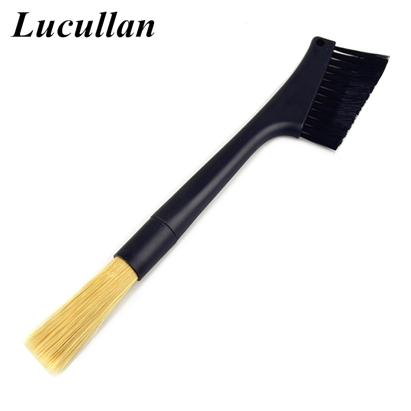 Lucullan Removable Double Head Interior Brush Car Vent Cleaning Brush Air-Condition Deep Dusting Brush For Detailer
