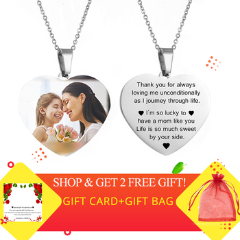 Custom Name Photo Heart Necklace Personalized Nameplate Gold Silver Color Necklaces for Women Customized Letter Jewelry Gift gold color initial multicolor cz necklace personalized letter necklace name jewelry for women accessories girlfriend gift