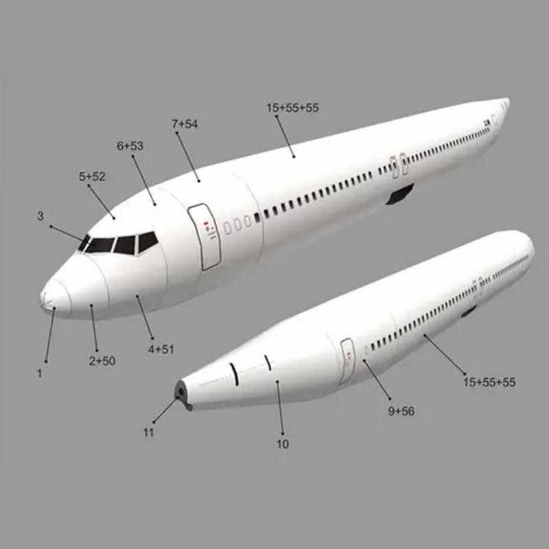 1:100 Boeing 737 aircraft KLM Craft Airlines 3D Paper Handmade DIY Model E2U5