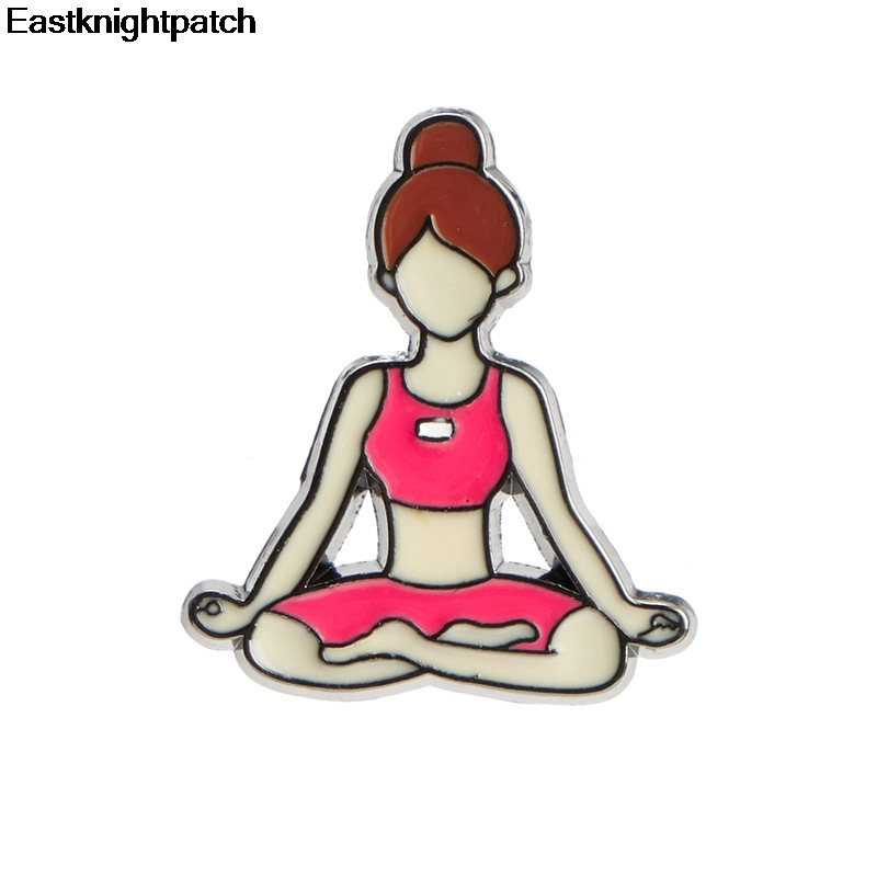 E1583 Cartoon Yoga Exercise Girls Pins Enamel Pin Collection Fashion Brooch For Friends Backpack Lapel Pin Badge Jewelry Gift Badges Aliexpress