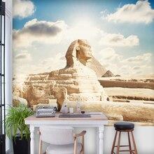 Backdrop Wallpaper Mural Egyptian Bedroom Custom 3d Living-Room Home-Decoration Sphinx