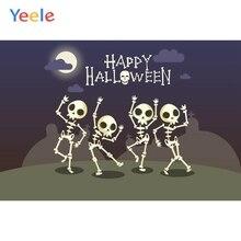 Yeele Halloween Horror Photocall Dance Skulls Moon Photography Backdrops Personalized Photographic Backgrounds For Photo Studio
