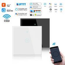 1/2/3 Gang TUYA WiFi Smart Touch Switch Touch Sensor Smart Switch Wall Panel Wireless