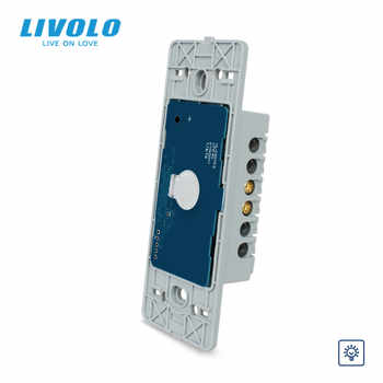 Livolo US standard Base Of Wall Light Touch Screen Remote Wireless dimmer doorbell Switch,110~250V,1Way,Without glass panel