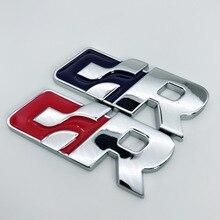 1pcs 3D metal emblem for R SR car logo stickers Badge styling Volkswagen Golf SAGITAR MAGOTAN BORA POLO T0URAN