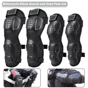 4PCs Elbow Guards Knee Pads Protection Body Armor Set for Adults Motorcycle Motocross Cycling Skating Racing Protective Gear