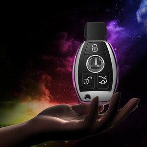 Image 5 - Quàng Nam chất lượng PC + TPU chìa khóa bao da Chìa Khóa Vỏ bảo vệ giá đỡ cho Xe Mercedes Benz MỘT B R G lớp GLK GLA E200 E200L W176