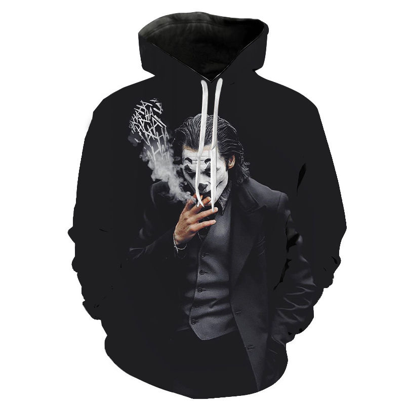 2020 New Fashion Joker 3D Hooded Clown Cool Print Hoody Sweatshirt Casual Hoodies Men Women Children Pullover Harajuku Clothes