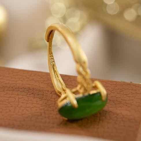 Оригинальный S925 стерлингового серебра (Hetian) нефрита, Нефритового зеленого цвета нефрита личность доступная Роскошные модные простые женские разъединяющееся кольцо Ri
