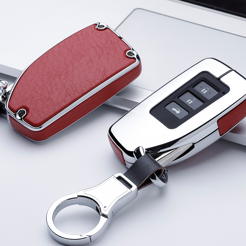 Leather Car Key Case Cover Shell Protection for <font><b>Lexus</b></font> ES/RX/NX/RX200t <font><b>nx200</b></font> ES300h ES350 ES200 ES260 LS350 LS500h Protect image