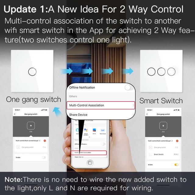 BSEED Wifi Licht Touch Schalter Smart Home für Alexa und Google Home 2