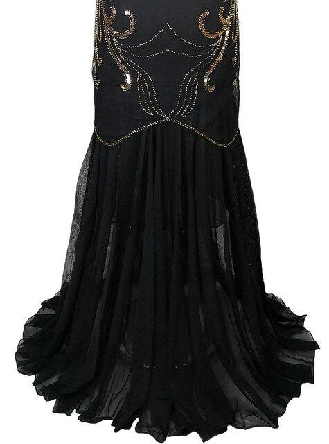 Women Vintage 1920s Great Gatsby Dress 20s Flapper Party Formal Dress Sexy O-Neck Sleeveless Beaded Sequin Mesh Mermaid Dress 5