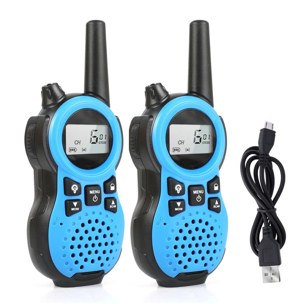 2Pcs Children's Walkie-talkie RD866 Kids Walkie Talkie For Mini Children's Outdoor Self Driving Walkie Talkie Gadget Up To 6km