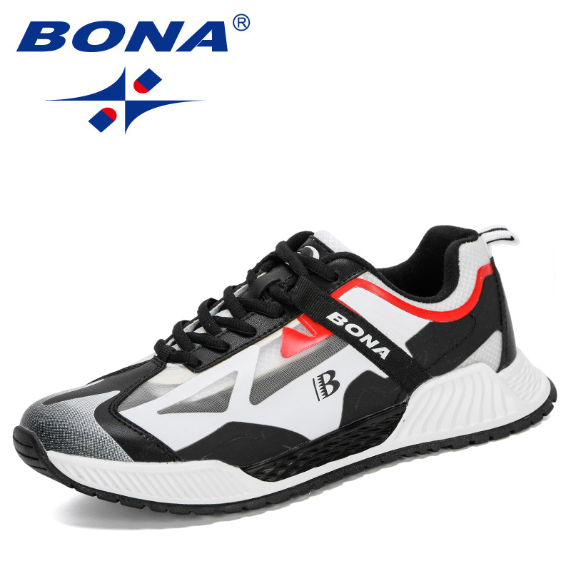 BONA 2020 New Designers  Popular Sneakers Men Running Shoes Large Size Comfortable Sports Men's Shoes Jogging Casual Shoes Man