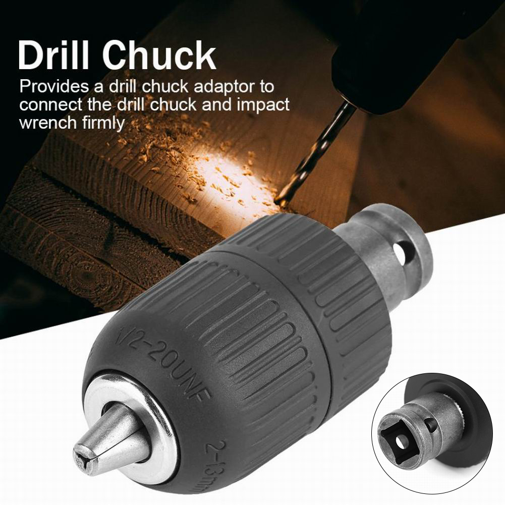 """Replacement Drill Chuck 2-13mm 1//2/"""" 1//2/""""-20UNF 2mm-13mm Impact Driver Adapter"""