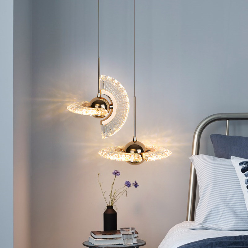 Nordic Pendant Light for Bedroom Bedside Bar Counter Restaurant Free Spin Single Head Hanging Lamp Kitchen Light Fixtures