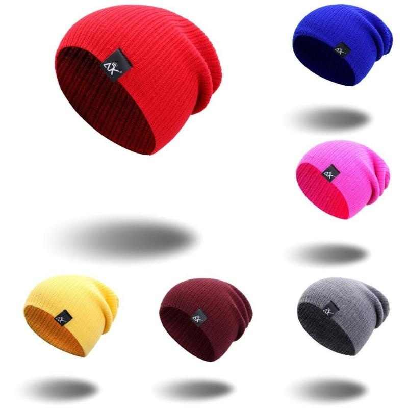 ファッションシックなニットニーハットスカルキャップニットビーニー冬帽子男女兼用メンズレディースキーだらしない冬の帽子スカーフセット 11 色選択することができ