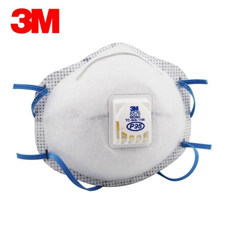 3M 8576 Gas Mask Original Particulate Respirator Acid Gas Relief Cool Fluoride