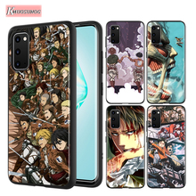 Anime attack on Titan Black Cover For Samsung Galaxy S20 Ultra Plus A01 A11 A21
