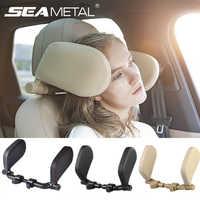 Almohada para reposacabezas de coche, cojín apto para niños y adultos, cojín para la cabeza para asiento de viaje