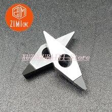 200pcs VCGT110304 PCD 다결정 다이아몬드 인서트 초경 인서트 CNC 선반 절삭 공구 알루미늄 선삭 공구