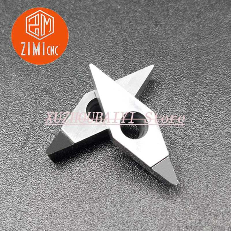 200pcs VCGT110304 PCD Polycrystalline Diamond Insert Carbide Insert CNC Lathe Cutting Tool Turning Tool  For Aluminum