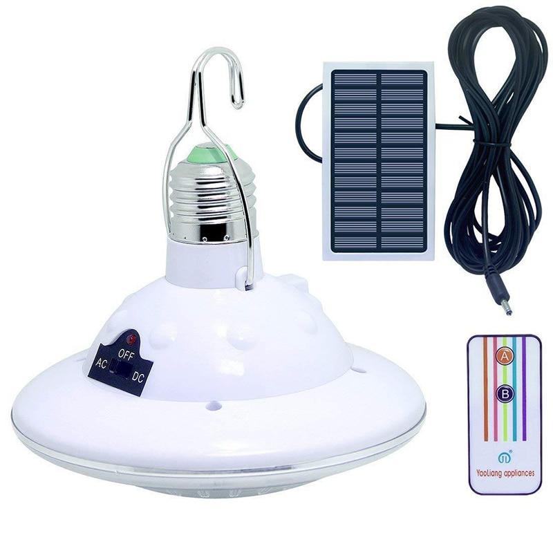 22 led de energia da lâmpada solar portátil usb recarregável led luz acampamento jardim interior iluminação emergência controle remoto lâmpadas solares