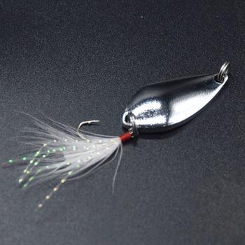 Toio 1pcs Metal 3.5g / 5g Fishing Lures Wobblers Spinner Bait Spoon Artificial Bass Hard Sequins Sequins Metal Steel Hook Lures