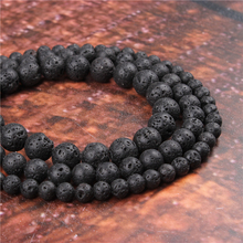 Fashion Volcanic Stone Round Beads Loose Jewelry Stone 4/6/8/10 / 12mm Suitable For Making Jewelry DIY Bracelet Necklace