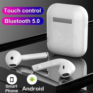 TWS Wireless Mini Headphones 3D Stereo Bass Bluetooth 5.0 Earphones Touch Noise Cancelling Sports Ear buds with Mic Charging Box