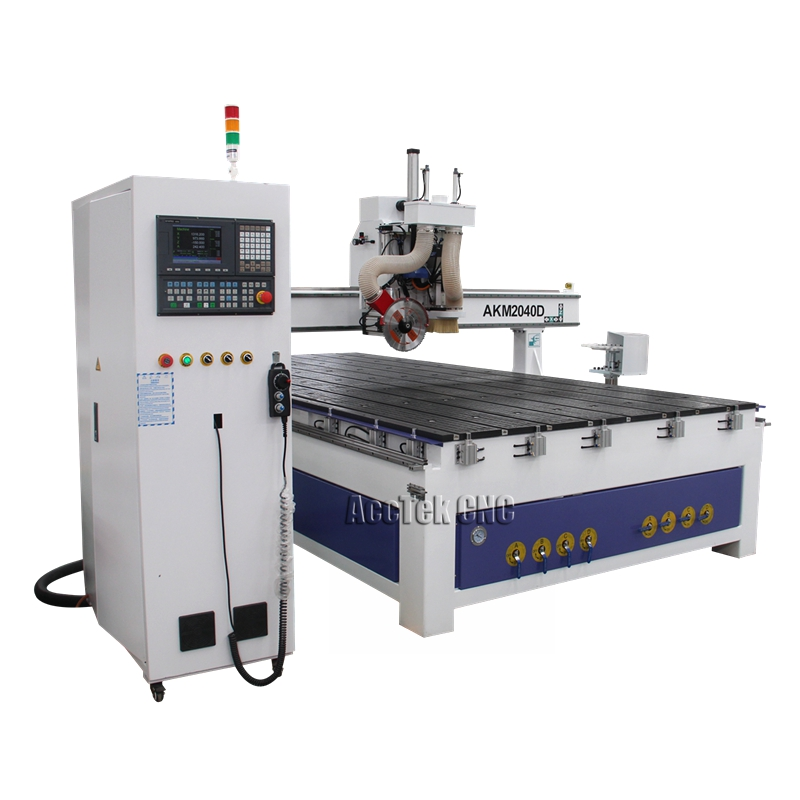 Factory Directly Supply Tool Change Spindle Cnc Wood Machinery 1530 2040 Atc Wood Cnc Router With Saw For Sale