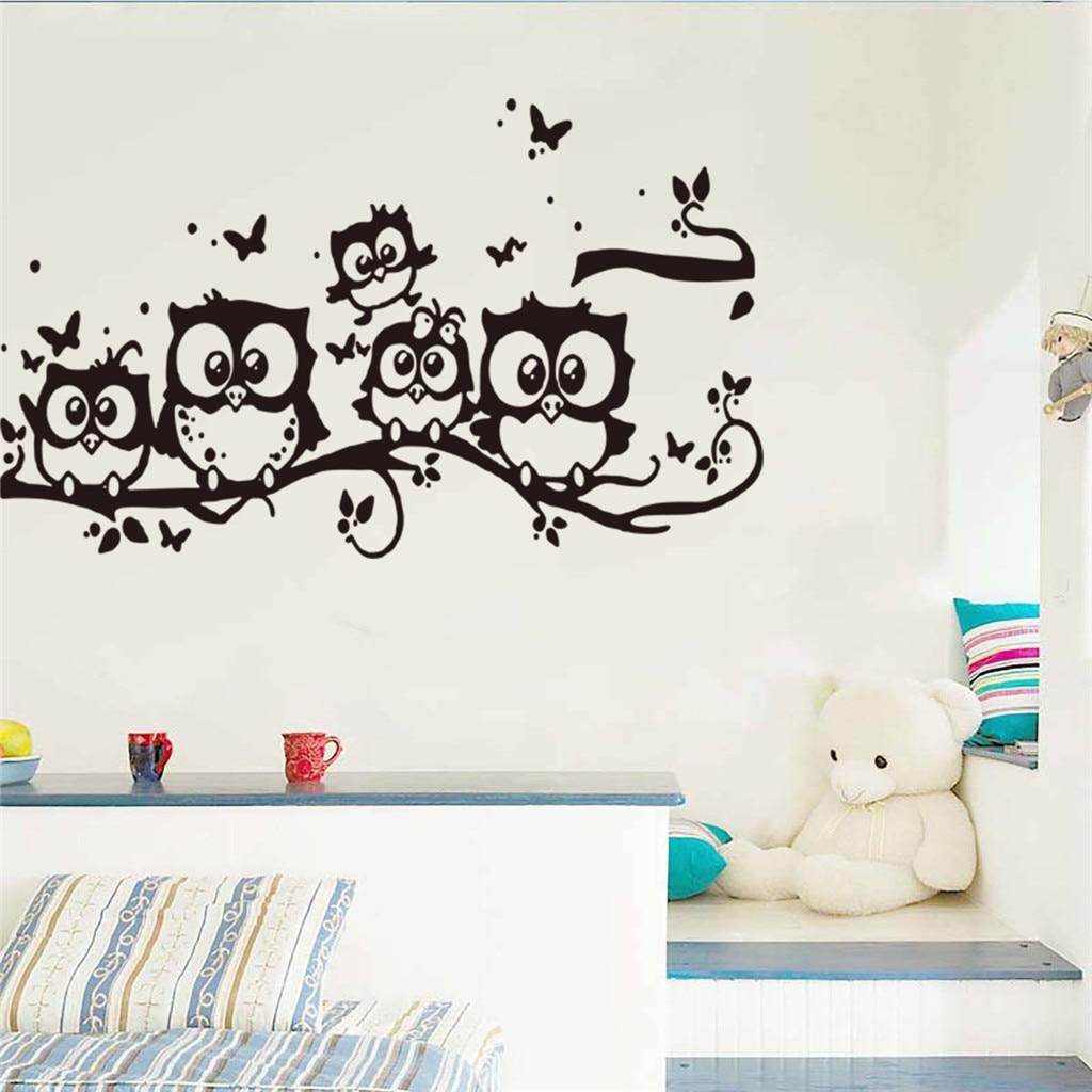 Permalink to Wall Sticker Cartoon Bedroom Minimalist House Wall Sticker Removable Wall Stickers Decal Home Decor Art Bird Mural Sticker