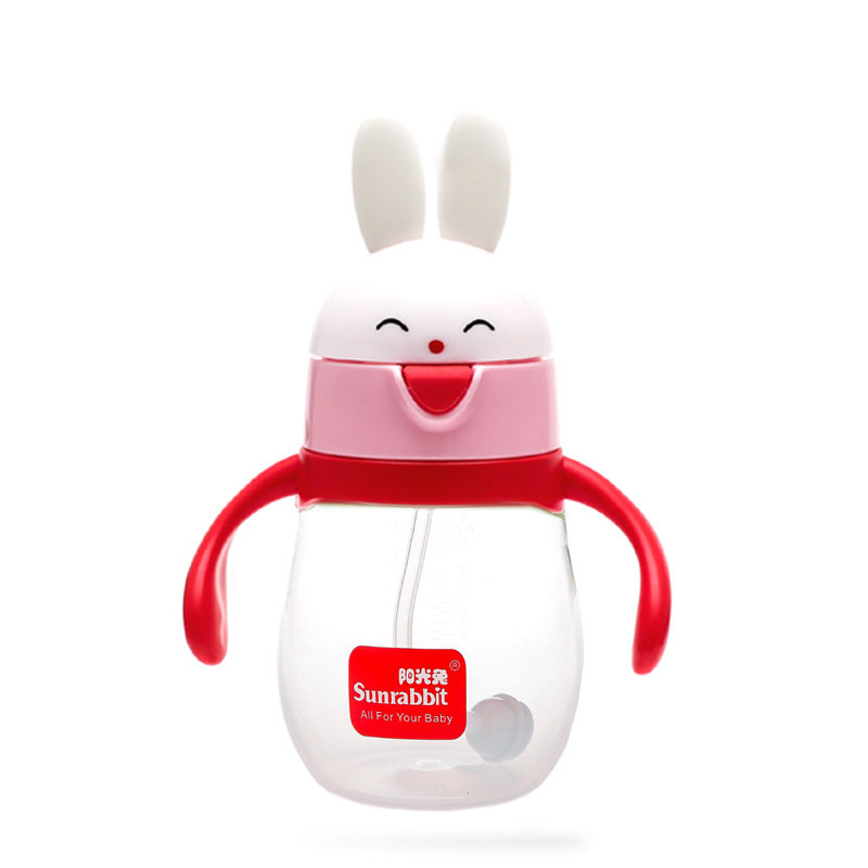 Sunshine Rabbit CHILDREN'S Cups Baby To Drink Glass Infant Sippy Cup Cup With Straw CHILDREN'S Kettle