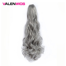 ValentWigs Claw Ponytail Clip On Synthetic Extensions Pure Color Wrap Around Pony Tail Long Wavy Style Claw Jaw in Hair pieces цена в Москве и Питере