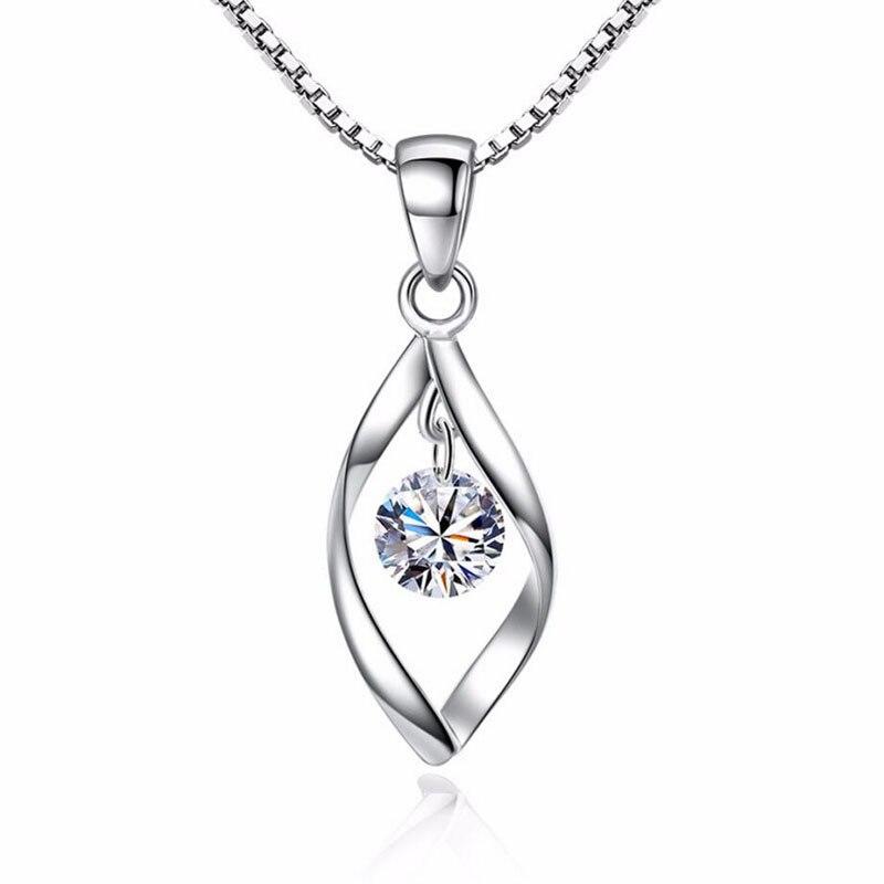 Mode 2019 Halskette Herzanhänger Choker 925 Sterling Silber Frau Collier