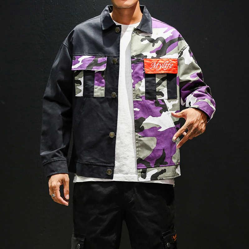 ファッションストリートウインドブレーカージャケットメンズヒップホップジャケットとコート 2019 韓国スタイル貨物ジャケット原宿日本ストリート