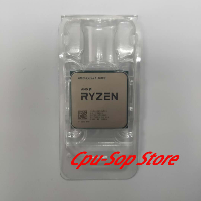 AMD Ryzen 5 3400G R5 3400G 3.7 GHz Quad Core Eight Thread 65W CPU Processor L3=4M YD3400C5M4MFH Socket AM4 Brand new