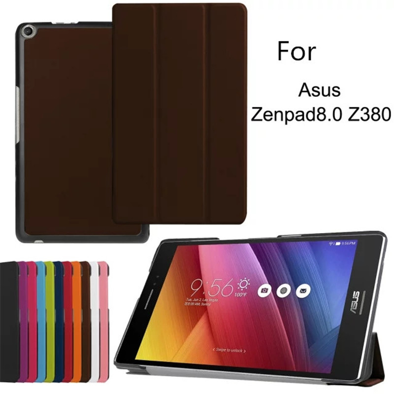 Cover Cases Z380C Zenpad Asus Smart 8inch Three for Flip-Stand Luxury Folded Magnetic