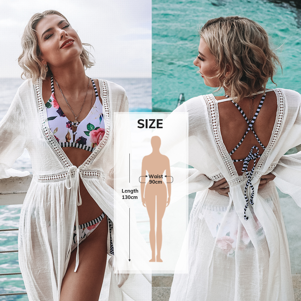 CUPSHE Black Sunflower Crochet Bikini Cover Up Sexy Swimsuit Beach Dress Women 2021 Summer Bathing Suit Beachwear Tunic Shirt 8