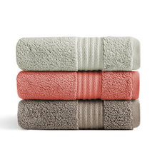 1 Pc 36x82cm 100% Cotton Large Hand Face Towel For Adult Bathroom Thicken Washcloth Couple Solid Color Towels