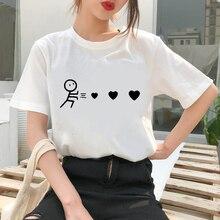 Graphic tees tops Heart Theme tshirts women funny t shirt O-neck T-shirt Vintage Vogue Ullzang   Mujer_T-Shirt