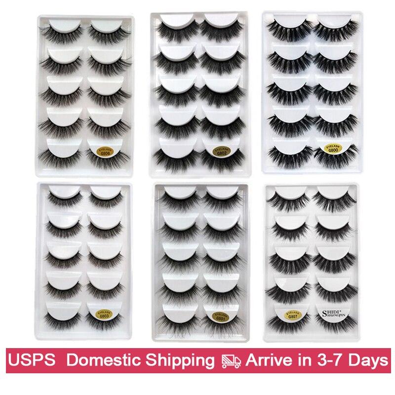 5 Pairs False Eyelashes Make Up Natural Long Lashes Mink Eyelashes 3d Eyelashes For Makeups Maquiagem Mink Lash Cilios Faux Cils