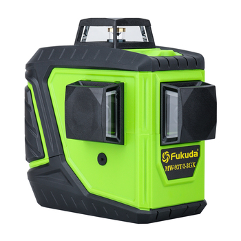 Fukuda Rotary Self Leveling Laser Level with12 lines and 3D Green Beam for Horizontal and Vertical Cross