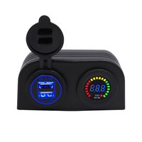 Car Rv Yacht Boat 4.2A Dual Usb Mobile Phone Charger Color Screen Voltmeter Universal Refit Accessories