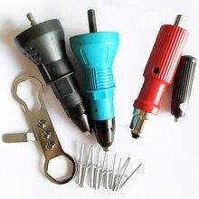 Elektrikli somun perçin tabancası perçin aracı akülü perçinleme matkap adaptör Insert somun aracı perçinleme matkap adaptörü 2.4mm 4.8mm