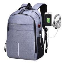 цена на Multifunction USB charging Men 15inch Laptop Backpacks For Teenager Fashion Male Mochila Travel backpack anti thief